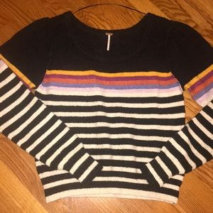 Free people colorful sweater, size large
